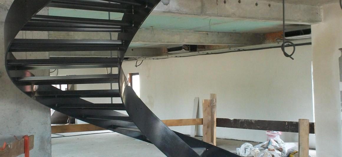 Escalier maison particulière - structure métallique - Muller Rost