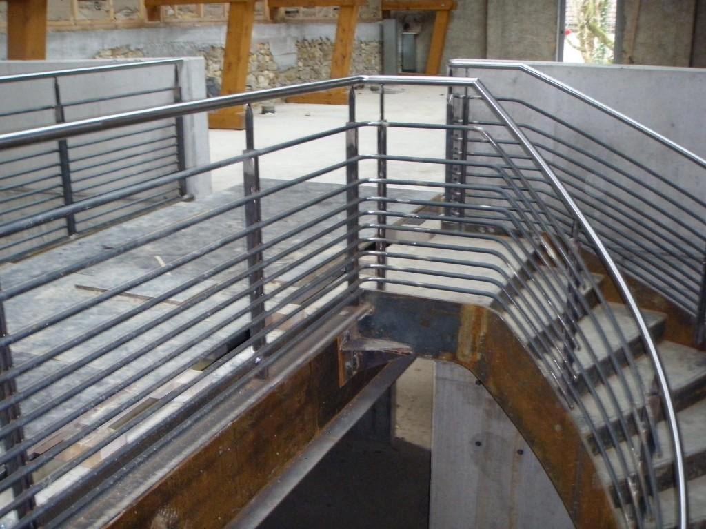 construction escalier metallique ville sierentz - muller rost
