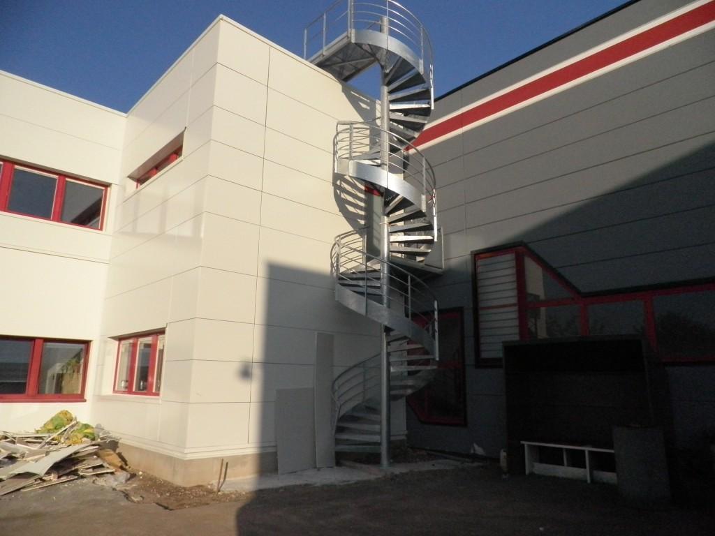 SALM - Alsace - Serrurerie et métallerie : escalier extérieur - Muller Rost